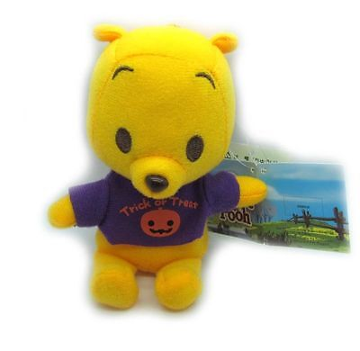 Disney Happy Halloween Winnie the mini Pooh Plush Doll Key Chain 5