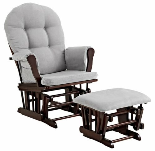 Glider Chair And Ottoman Nursery Rocking Furniture Baby Nursing Rocker Seat Gray