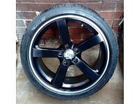 18 Inch Alloy Wheels Fox Racing MS003 VW Golf Mercedes