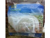 GARDEN GROW TUNNEL CLEAR POLYTHENE 3M LONG ( NEW, UNUSED ) - FOR £ 10