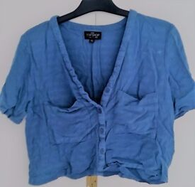 Topshop cornflower blue crop top. Size 8. Never worn.