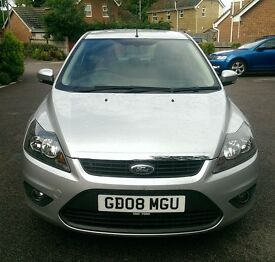 2008 FORD FOCUS 1.6 PETROL ZETEC 5 DOOR HATCHBACK, 1 OWNER + AGENT, LONG MOT, EXCELLENT CONDITION.