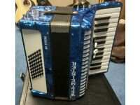 Weltmeister 48 Bass Piano Accordion - Blue