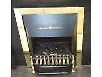 Black and Gold Electric Fire in Perfect Working Condition