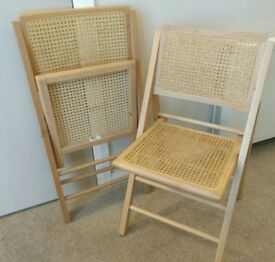 Folding dining chairs x2