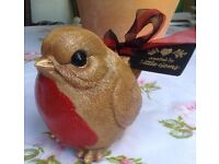 Stone large Robin garden ornament weatherproof gift keepsake remembrance