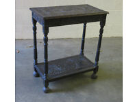 Vintage Carved Hall / Console / Side table / Plant stand