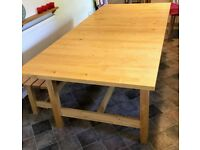DINING TABLE IKEA Norden - Extending - Seats 6-10 - Solid Wood