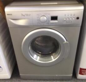 Silver Beko 7 kg.1500 spin washing machine. WM7355S