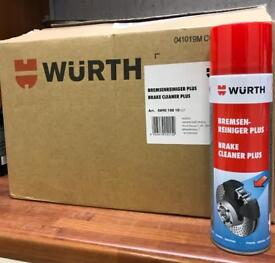 Wurth Brake and Chain Cleaner 500ml x 6 Cans. FREE DELIVERY