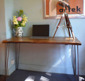 One Off Hairpin Leg Industial Cherry Rustic Desk Table READY NOW