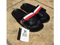 Men's sliders Louis Vuitton Black Red