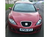 SEAT LEON 2.0 FSI red, 12 months MOT FULL SERVICE HISTORY Towbar LOW MILES £1500