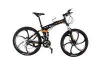 Cyrusher FR100 Black Full Suspenion Frame 24 Gears Folding Man's Mountain Bike