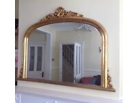 Gold OverMantle Mirror