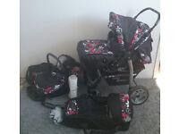 3 in 1 baby pushchair pram carseat