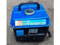 Fully Serviced Portable Petrol Generator Mains 240v 850W max