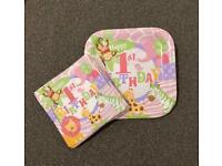 1st birthday napkins & plates