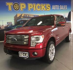 2013 Ford F-150 LIMITED, RED ON RED LEATHER, SUNROOF, NAVI, 22'S