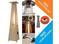 2.3m Tall Glass Tube Pyramid Patio Heater NEW *Bargain*