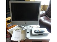 Television, Freeview Box and DVD Player