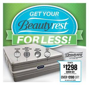 Get your BeautyRest; FOR LESS! 50% OFF & more @ www.mattressesforless.ca