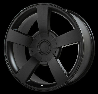 4 New 22X10 Chevrolet Silverado Ss Wheels Matte Blk Oe