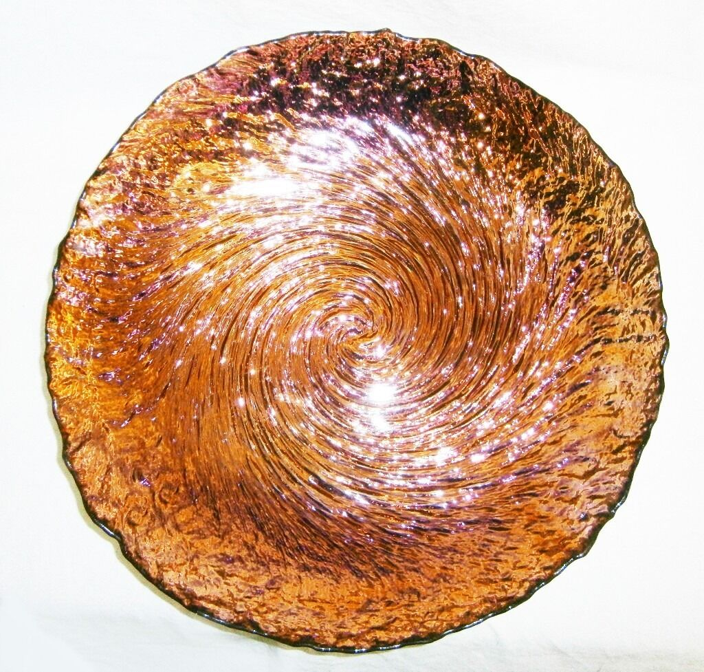 superb large 'artistic accents' decorative bowl iridescent multi  - superb large 'artistic accents' decorative bowl iridescent multicolour silver