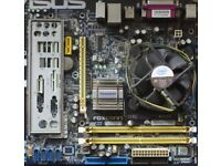 Core2duo motherboard processor and RAM