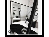 Black Four Poster Bed Frame