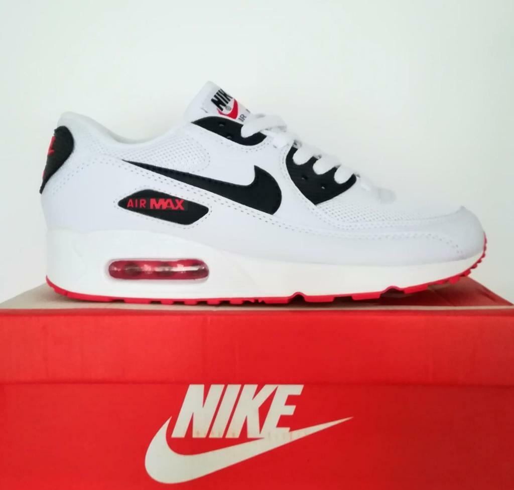 8cdb8f9011e98 Brand New with Box Mens Nike Air Max 90 White Black Red size 6 Trainers  Shoes