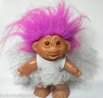 Thomas Dam troll girl 1986 Fuchsia hair fairy