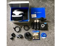PSVR, PS4 Camera, x2 Move Controllers, x1 Navigation Controller, Resident Evil PSVR Game