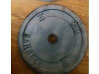 4 x 10kg metal weight plates 40kg