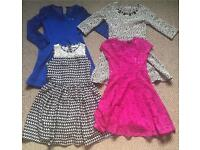 Girls dresses bundle 9-10 yrs(River Island..)