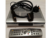Humax Freeview Box F2 FOX T With Remote & Scart cables & RF MODULATOR! £15! 1 FAULT!