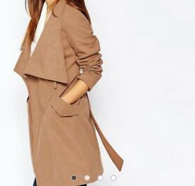 Brand new Warehouse Tan Winter Coat - size 10 - with tags