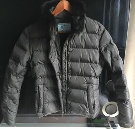 Prada woman's down jacket with real fur