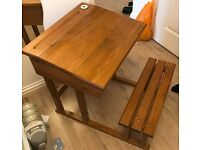 Solid wood study desk for children