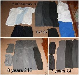boys school uniforms 5-8 years (more pics in ad) prices in pic 5-6 bundle £8.50 6-8 years bundle