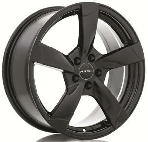 "RTX 18"" Wheel Set Audi A3 A4 A6 Volkswagen Jetta Golf 5x112 +35mm Wheels Mag Noir Black Rims"