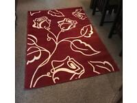 Beautiful Red and Cream Rug