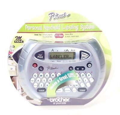 Brother P-touch Personal Handheld Labeling System Label Maker Labeler Pt-70bm