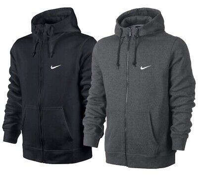 Nike Mens Club Swoosh Full Zip Hoodie