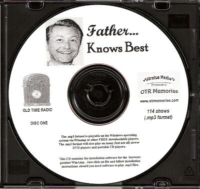 FATHER KNOWS BEST - 114 Shows Old Time Radio In MP3 Format OTR On 2