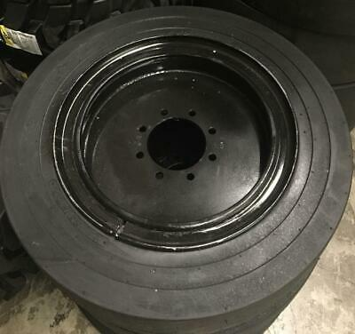 4- Tires With Wheels 34x12-20 12-16.5 Solid Smooth Skid-steer Loader Tire