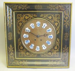 Very Large & Heavily Inlaid 19th C. French Bakers Clock  c. 1870s  antique