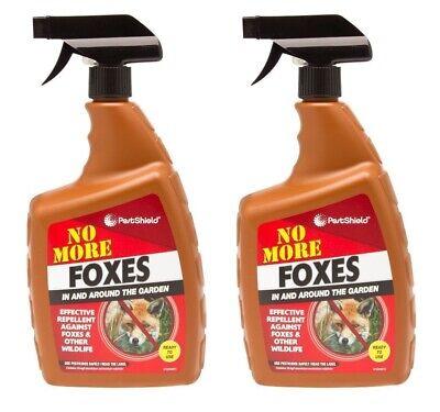 2 x Pestshield No More Foxe Garden Fox Rodent Wildlife Cat Repellent Deter Spray