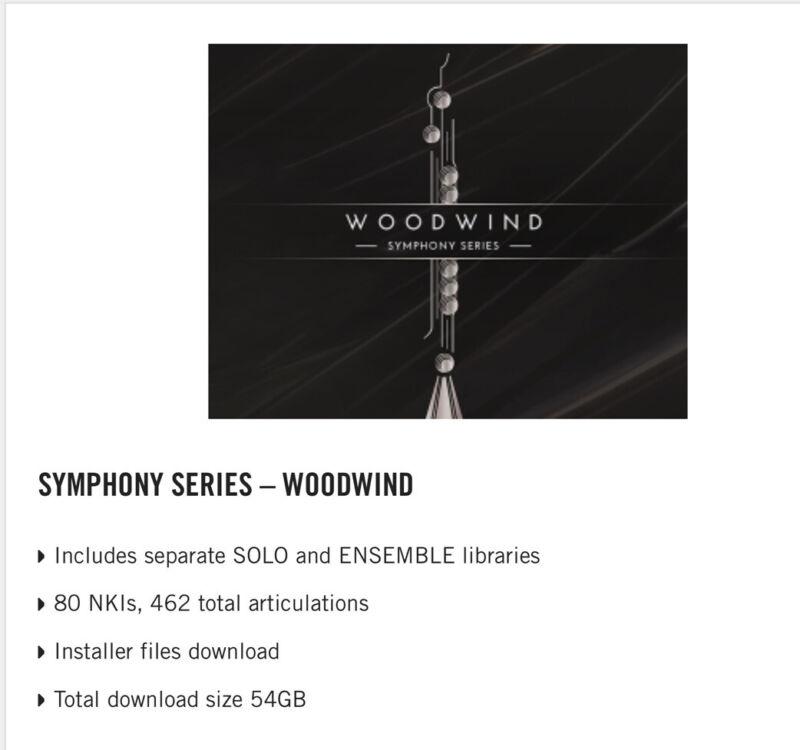 Native Instruments NI Symphony Series Woodwind Crossgrade RRP £269