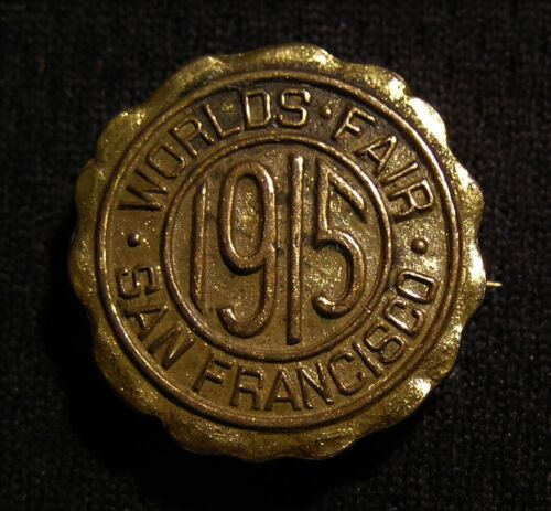 1915 PPIE PANAMA PACIFIC EXPOSITION WORLDS FAIR PIN - SAN FRANCISCO CA
